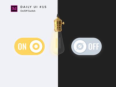 Daily UI challenge #015 switch uidesign design adobe xd ui dailyui