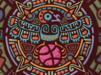 Aztec Dribbble Crow