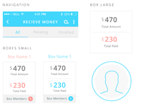 Mobile Payment App, Boxes