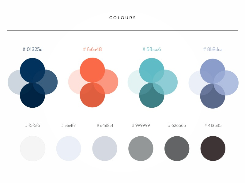 Color combination for a nautical themed app by Bannahhain ...
