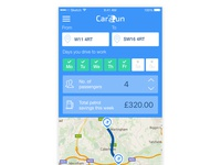 Initial screens for Carsharing app