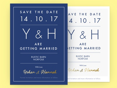 Save The Date - card design