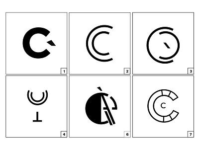 Mark Exploration white black alphabet mark c identity brand design restaurant food logo