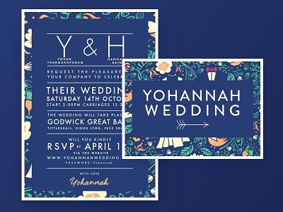 Wedding this way!! illustraion arrow right typography wedding design wedding sign invite wedding