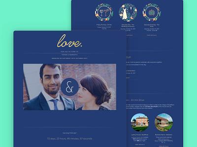 Wedding Website    Design illustraion arrow right typography wedding design wedding sign invite wedding