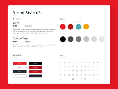 Visual Style research creative studio ux design ui design typography fonts colour visual style newspaper