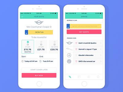 UI designs for a peer to peer lending app mobile app simple landrover jaguar design ux automobile car ui