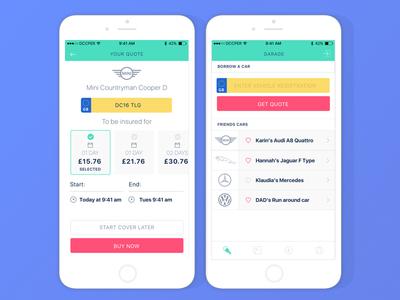 UI designs for a peer to peer lending app