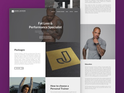 Website design for a Personal Trainer photography lato fitness training wordpress design ux ui website personal trainer