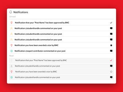 Notifications for a children's website V1