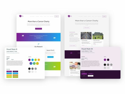 Style Research for a Cancer Charity website colour stylistic website design ui research style