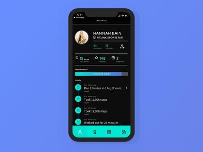 iPhone app design for Fitlink