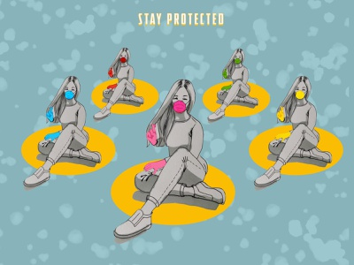 stay protected coronavirus stay protected art illustration