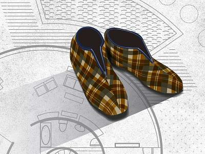 Background4 slippers illustration