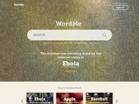 Dictionary Homepage Concept
