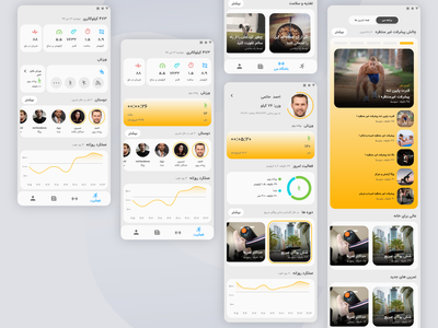 Workout and Fitness Tracker running tracker workout tracker workout app fitness app adobe illustrator adobe xd ui