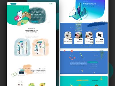 eWallet Landing Page hand drawn drawing fresco website design webdesign website walletapp wallet ui xd ewallet landing page design landingpage wallet