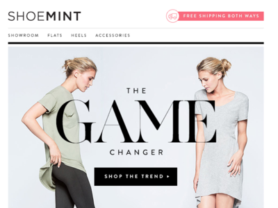 Shoemint Visual Design branding web design typography ux logo ui