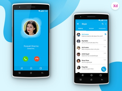 Skype re-design mobile application