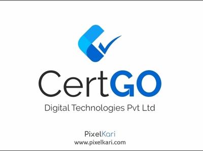 Cert GO Digital Technologies  - Logo Branding branding agency brand branding design 2020 design invite hello featured latest graphic  design dribbble top new hello dribbble