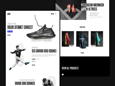 Web UI Concept sports design banner shoes nike uidesign webdesign graphics design flat minimal typography design