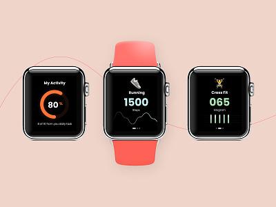 WatchOS   Fitness UI dashboard ui fitness app minimal watch design mobile ui ios apple watch watchos