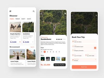 Travel App UI Concept Design mobile ui travel mobile app design travel ui travel app