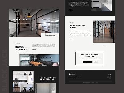 Architecture web ui design landing page design uiux website