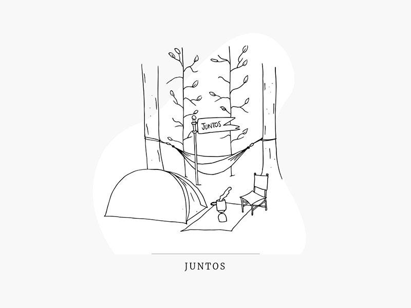 Illustration together nude minimal illustration
