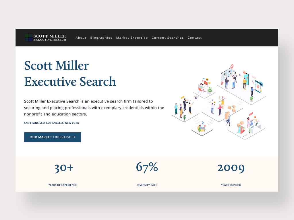 Scott Miller Executive Search Redesign website