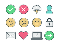 Icons for service design templates