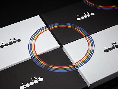 Diadora - From Seoul to Rio shoes packagin tipografia illustrazione il branding design logo