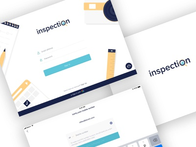 Inspection App note app camera app scheduler digital art flatui ux design ui design mesure app loginscreen graphic design interfacedesign appui ipad branding graphics illustartion ux ui ipadapp inspection