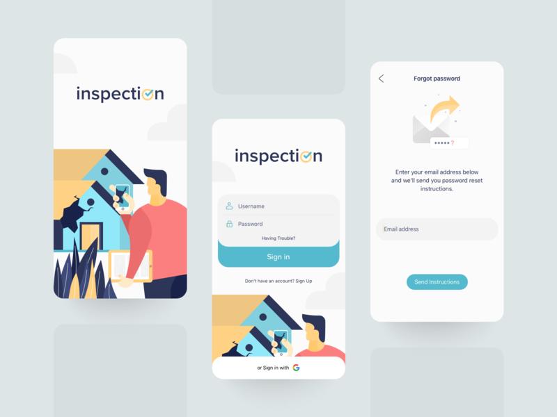 Inspection app SignIn UI