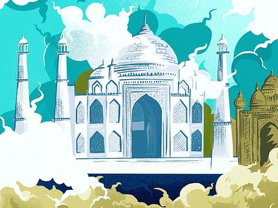Taj Mahal... illustration art dailyposter dailyui dailypractice flatui simple branding web uidesign scribble doodleart ipadproart digital illustration mobile website procreate artwork design graphics illustraion