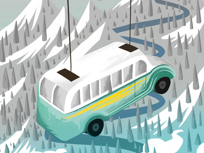 Lifted design illustrations illustrated digital art removed travel goal into the wild bus