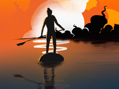Summer Plans... daily ui daily practice art of the day craaetive ideas painting graphic design illustration works procreate art procreate drawing digital artist digital artwork digital illustration digital painting digital drawing graphics design illustration ui artwork kayaking