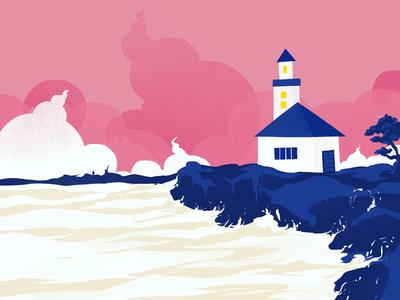 Sea 🌊 myart gallery art lovers rock beach seashore sea beaches digital paint daily ui daily practice ui artworks illustration artists procreate illustrated canvas digits drawing digital illustrations artworks graphics ui design