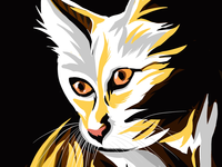 Cat 🐈 daily practice my art gallery pet lovers cats cat animals graphic artist on dribbble digital artwork digital painting drawing design procreate art procreations drawings illustration artist art illustration artwork ui design