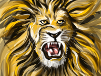 The king... 🦁 drawing artist pencilfox studio artworks procreateapp procreations angry lion angery lion paintings drawings illustration artist artwork daily practice art of the day drawing digitalart illustration wild animals the king king lion