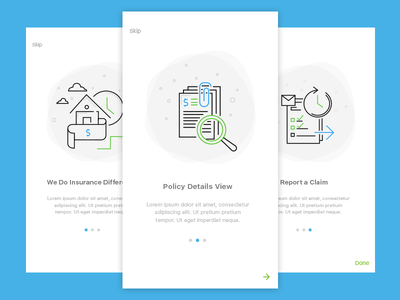 Policyholder App Onboarding!! playstore live mobile app holder policy illustration onboarding