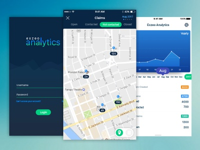 Claim track analytics app android ios insurance claim analytics managers web mobile app