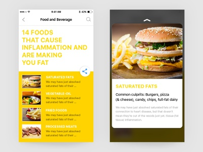 Article page!! ux ui graphics design mobile ios practise dailyui article-page touch 3d