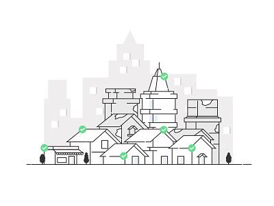 Insured. flat design ux ui sketch graphics illustration protection claim insurance exzeo