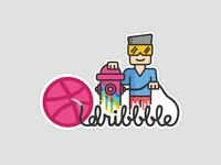 Dribbble sticker mule