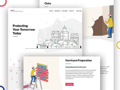 HCPCI website. insurance android ios flatui ux ui design graphic exzeo illustrations website hcpci