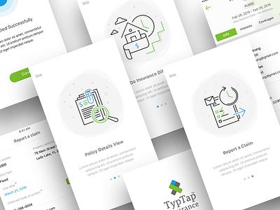 PH app Onboarding screens. sketchapp design illustrations graphics interface ux ui app holder policy exzeo onboarding