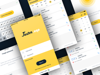 Juster app light theme UI