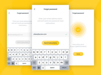Reset password UI