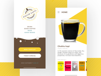 Coffee Cafe slot booking app concept.